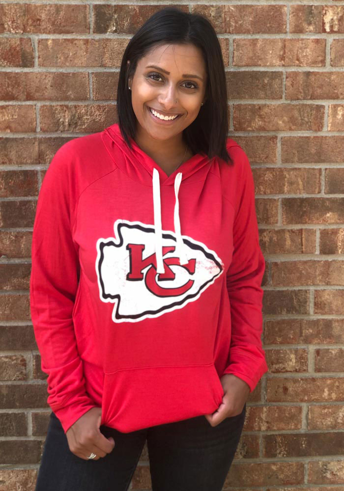 Kansas City Chiefs Womens Red Pre-Game Hooded Sweatshirt - Image 2