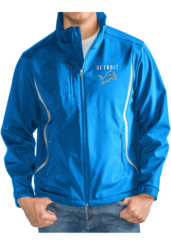 Detroit Lions Mens Blue Softshell Heavyweight Jacket - Image 1