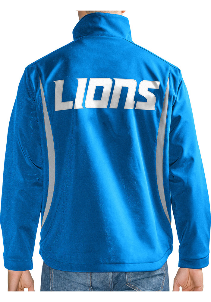 Detroit Lions Mens Blue Softshell Heavyweight Jacket - Image 2