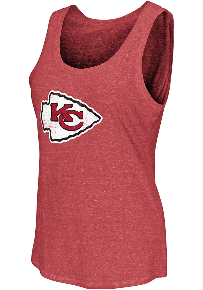 Kansas City Chiefs Womens Red Playoff Tank Top - Image 1