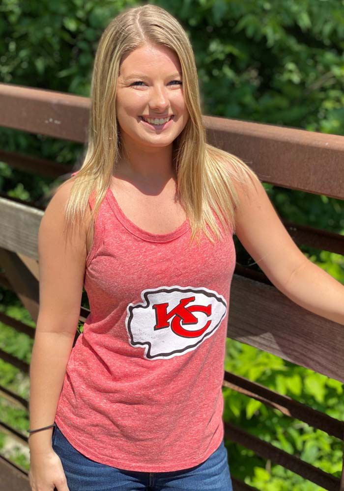 Kansas City Chiefs Womens Red Playoff Tank Top - Image 2