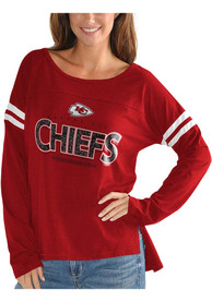 Kansas City Chiefs Womens Free Agent Scoop Neck T-Shirt - Red