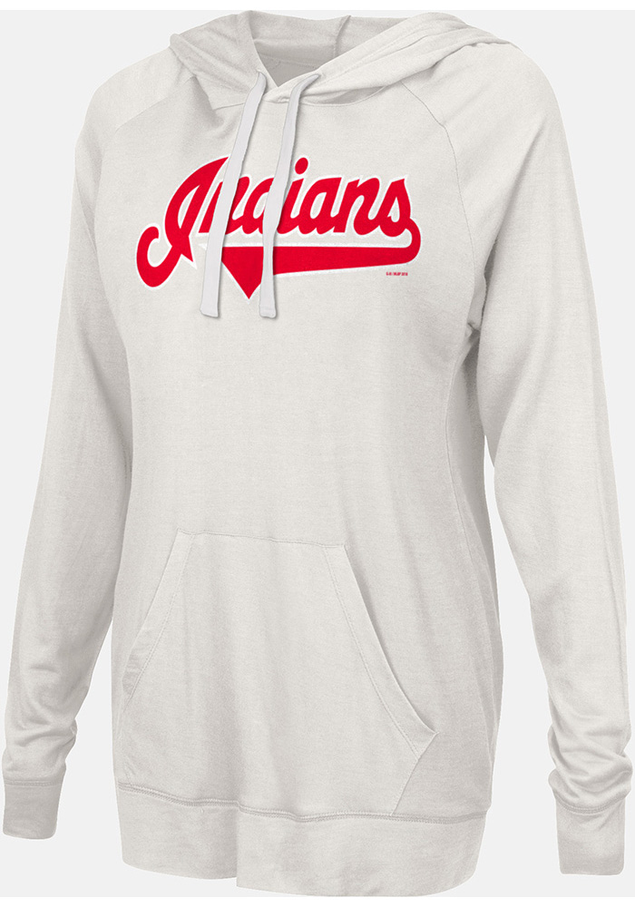 Cleveland Indians Womens Grey Pre-Game Hooded Sweatshirt - Image 1