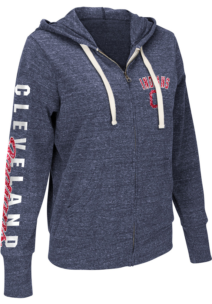 Cleveland Indians Womens Navy Blue Training Camp Long Sleeve Full Zip Jacket - Image 1