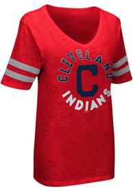 Cleveland Indians Womens Triple T-Shirt - Red
