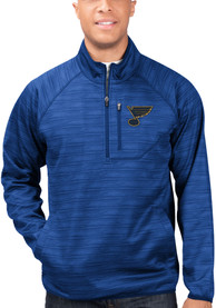 St Louis Blues Power Play 1/4 Zip Pullover - Blue