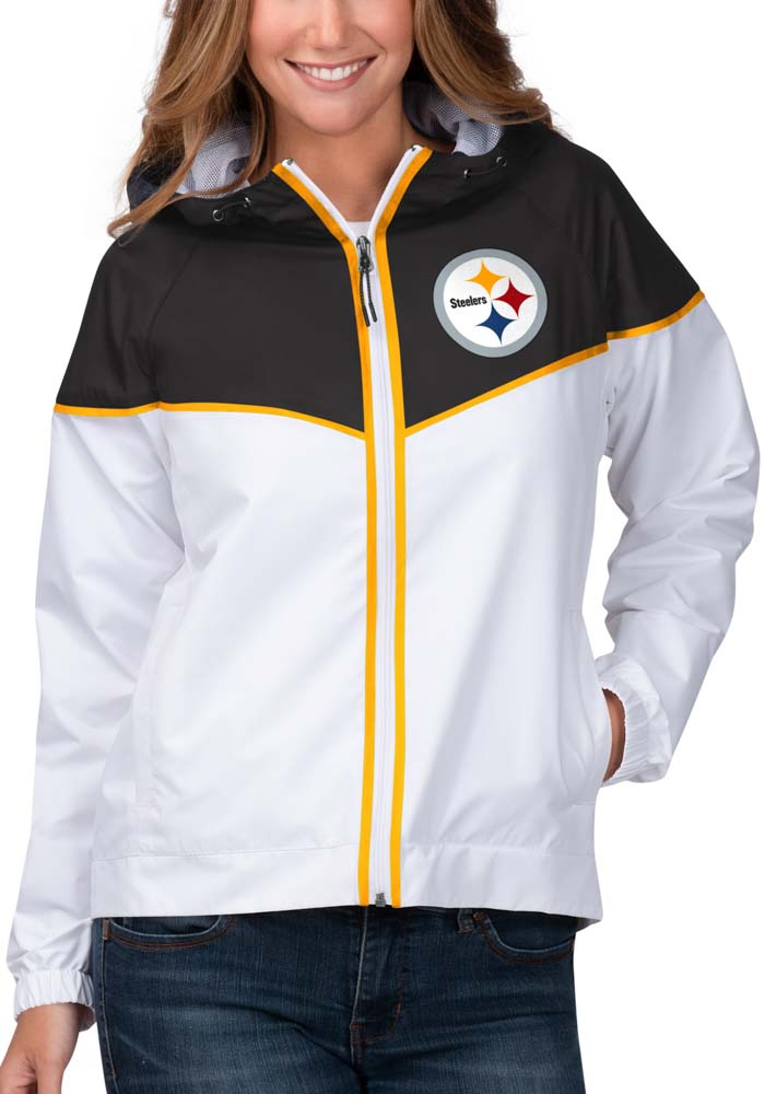 Pittsburgh Steelers Womens White Opening Day Light Weight Jacket - Image 1