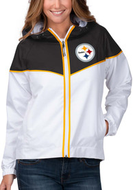 Pittsburgh Steelers Womens Opening Day Light Weight Jacket - White