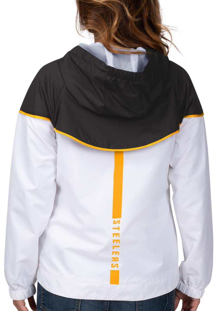 Pittsburgh Steelers Womens White Opening Day Light Weight Jacket - Image 2