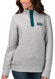 Philadelphia Eagles Womens First Hit 1/4 Zip Pullover - Grey