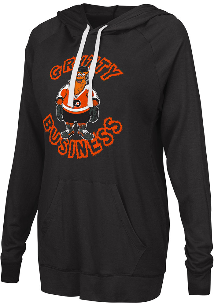 Gritty G3 Philadelphia Flyers Womens Black Gritty Pregame Hoodie