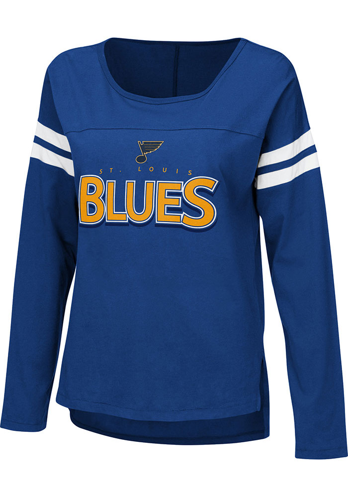 St Louis Blues Womens Blue Free Agent LS Tee - Image 1