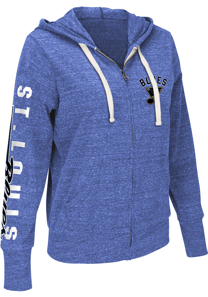 St Louis Blues Womens Blue Training Camp Long Sleeve Full Zip Jacket - Image 1