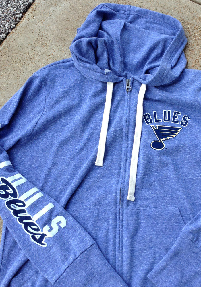St Louis Blues Womens Blue Training Camp Long Sleeve Full Zip Jacket - Image 2