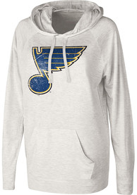 St Louis Blues Womens Pre-Game Hooded Sweatshirt - Oatmeal