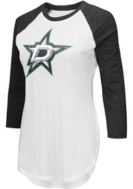Dallas Stars Womens Tailgate T-Shirt - White