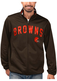 Cleveland Browns Double Play Track Jacket - Brown