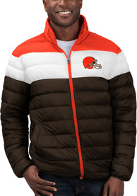 Cleveland Browns Cold Front Heavyweight Jacket - Brown