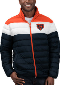 Chicago Bears Cold Front Heavyweight Jacket - Navy Blue