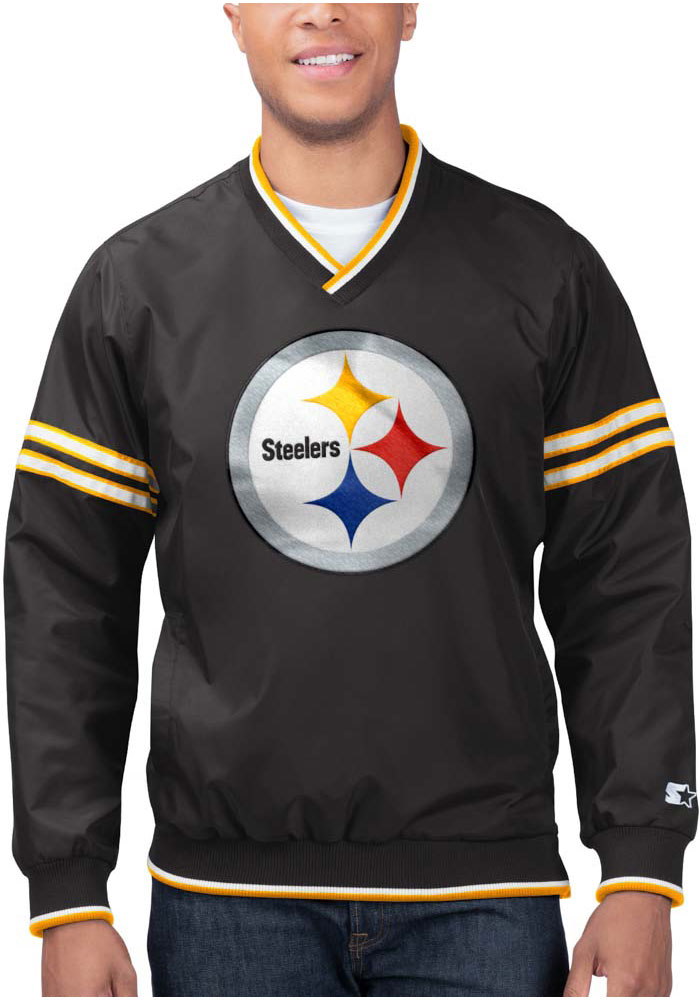 Starter Pittsburgh Steelers Mens Black Gameday Trainer II Pullover Jackets - Image 1