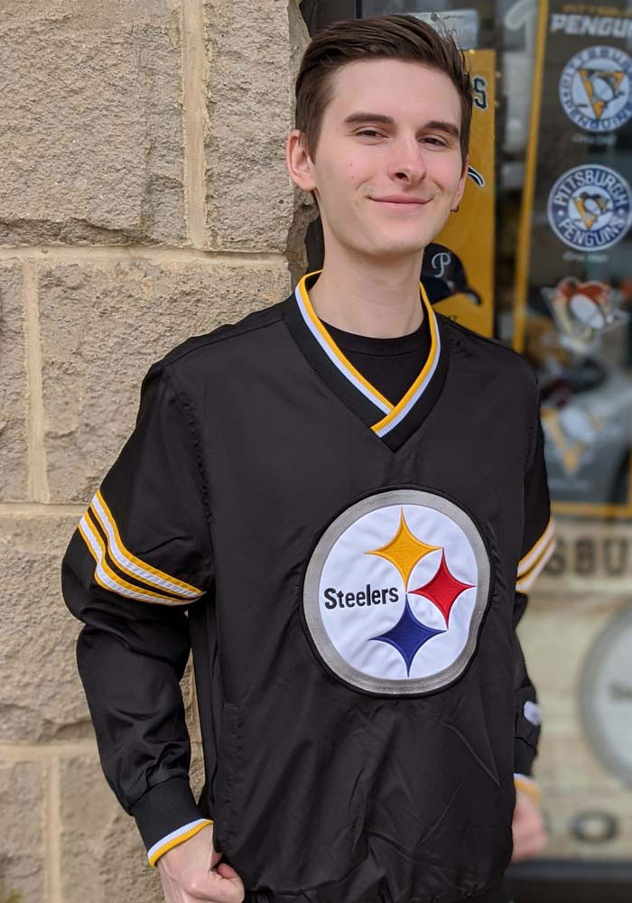 Starter Pittsburgh Steelers Mens Black Gameday Trainer II Pullover Jackets - Image 2