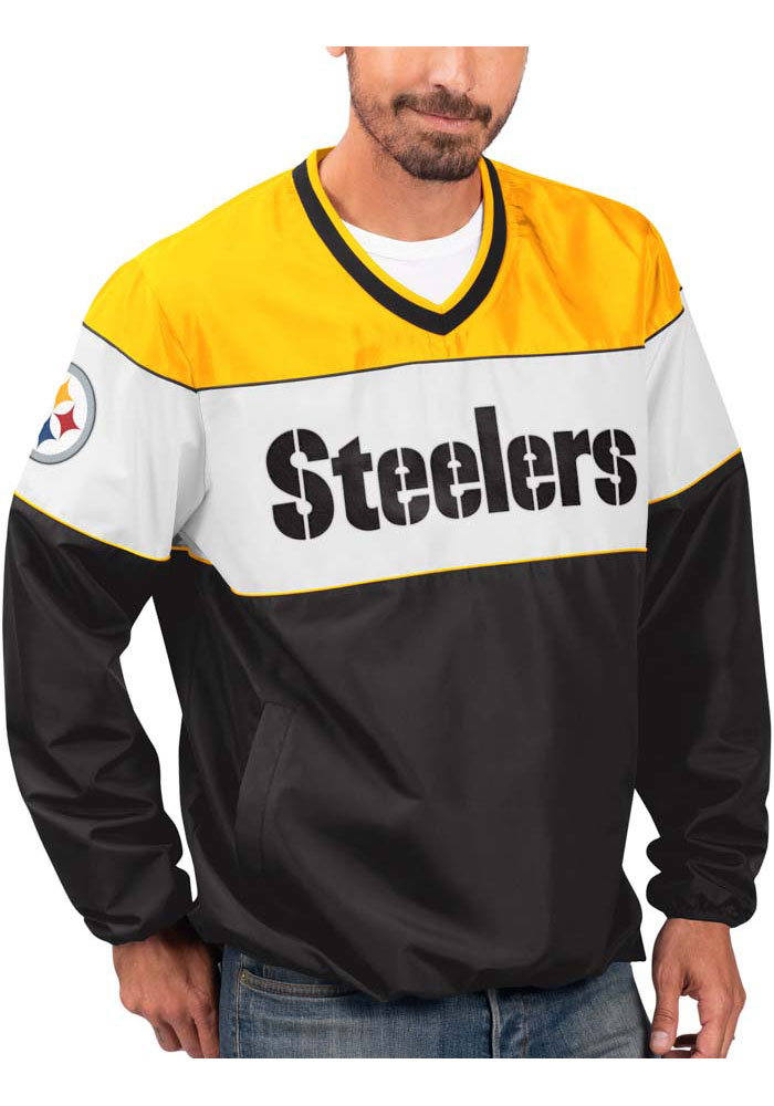 Pittsburgh Steelers Mens Black First Class Pullover Jackets - Image 1