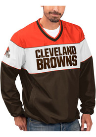 Cleveland Browns First Class Pullover Jackets - Brown