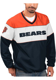 Chicago Bears First Class Pullover Jackets - Navy Blue