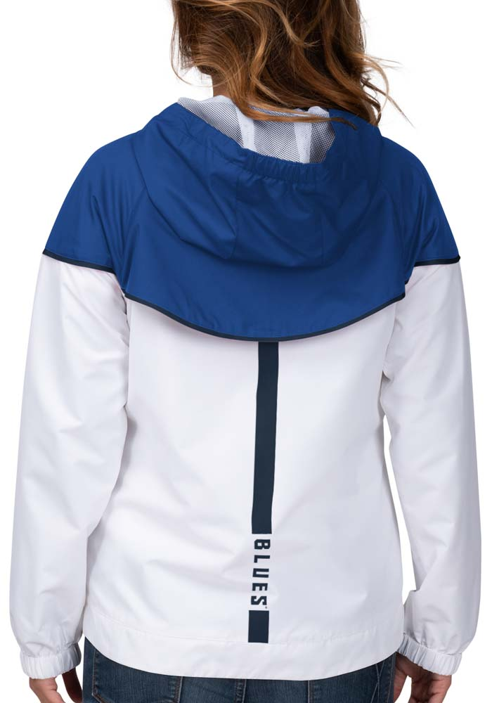 St Louis Blues Womens White Opening Day Light Weight Jacket - Image 2