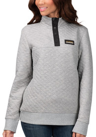 Pittsburgh Penguins Womens First Hit 1/4 Zip Pullover - Grey