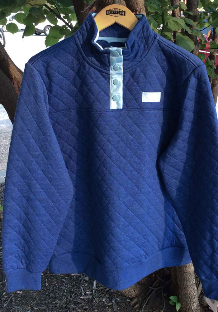 Kansas City Royals Womens Blue Face Off Knit Pullover 1/4 Zip Pullover - Image 3
