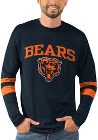 Chicago Bears Knit Pullover T Shirt - Navy Blue