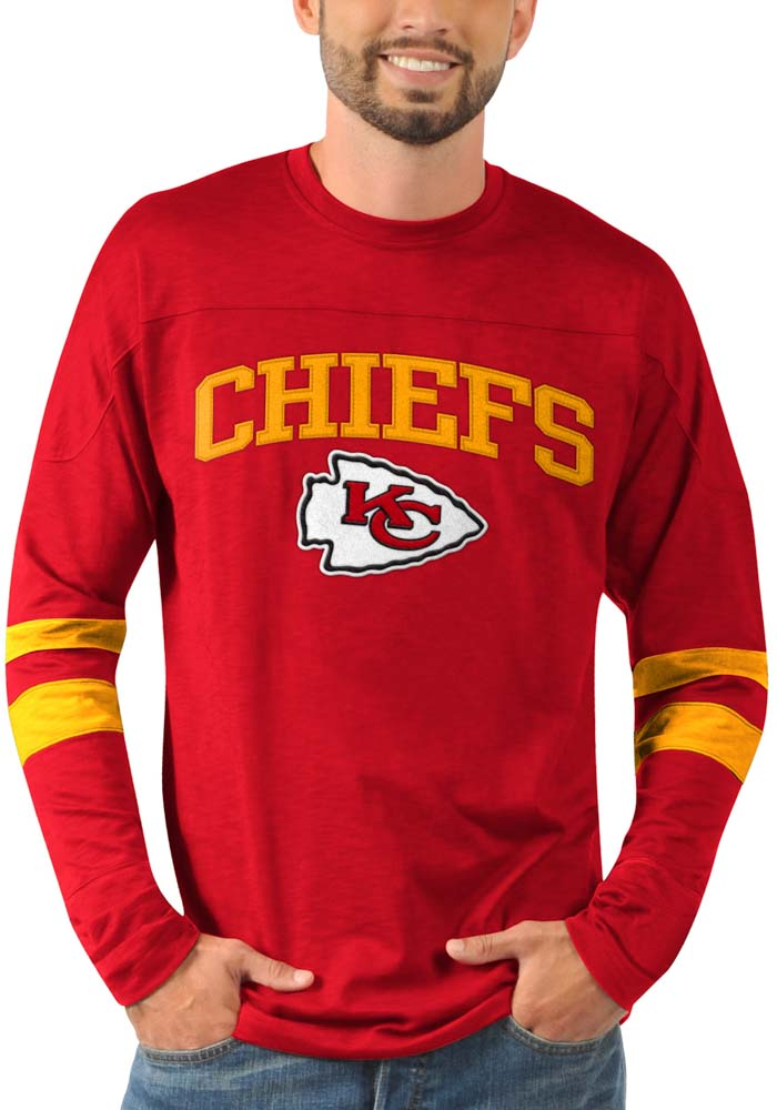 Kansas City Chiefs Red Knit Pullover Long Sleeve T Shirt - Image 1