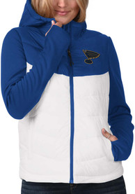 St Louis Blues Womens Victory Blue Heavy Weight Jacket