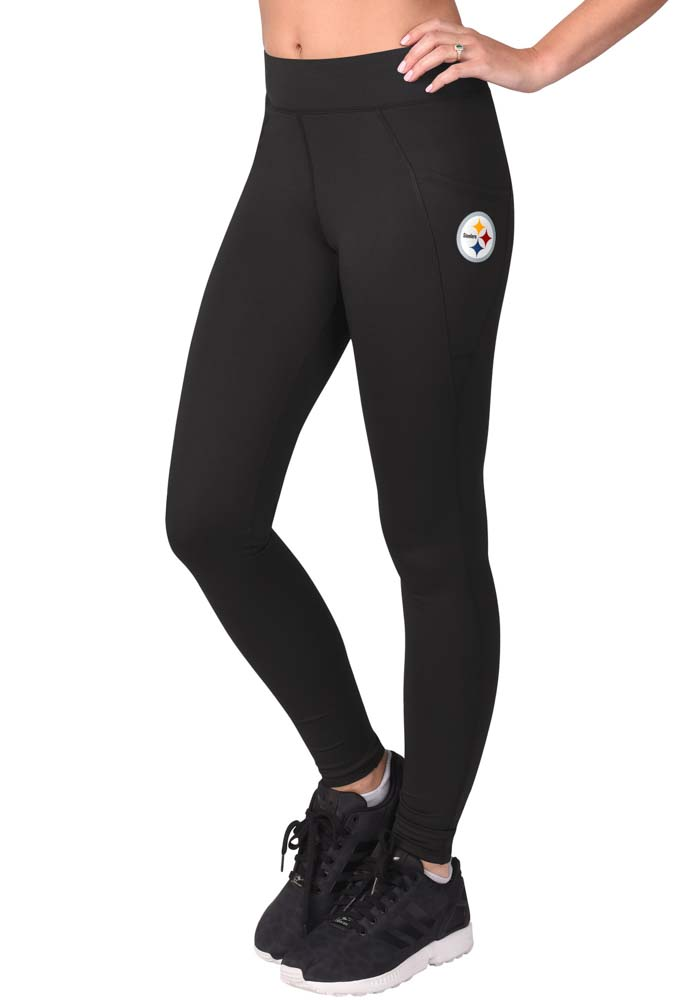 Pittsburgh Steelers Womens Black Knockout Pants - Image 1