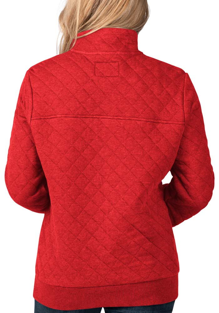 Kansas City Chiefs Womens Red Face Off 1/4 Zip Pullover - Image 2