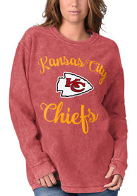 Kansas City Chiefs Womens Julie Comfy Cord Crew Sweatshirt - Red