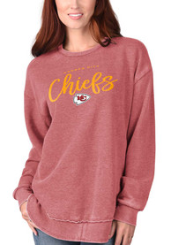 Kansas City Chiefs Womens Gertrude Vintage Crew Sweatshirt - Red