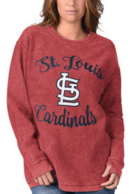 St Louis Cardinals Womens Julie Comfy Cord Crew Sweatshirt - Red