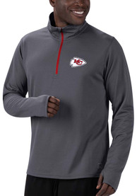 Kansas City Chiefs MSX Team Logo 1/4 Zip Pullover - Charcoal