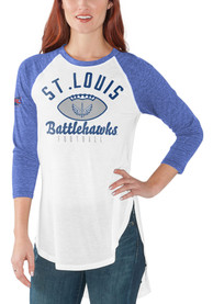 St Louis Battlehawks Womens Tailgate T-Shirt - White