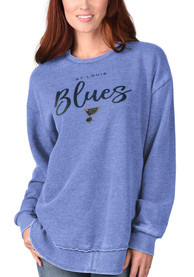 St Louis Blues Womens Gertrude Vintage Crew Sweatshirt - Blue