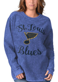 St Louis Blues Womens Julie Comfy Cord Crew Sweatshirt - Blue