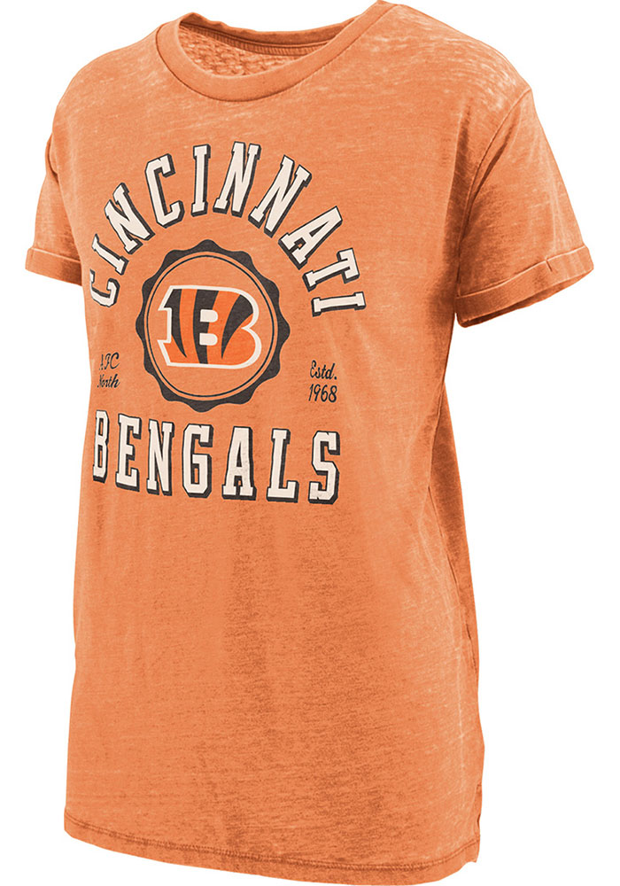 Cincinnati Bengals Womens Vintage T-Shirt - Orange