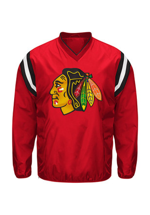 Chicago Blackhawks Mens Red Bullpen Light Weight Jacket