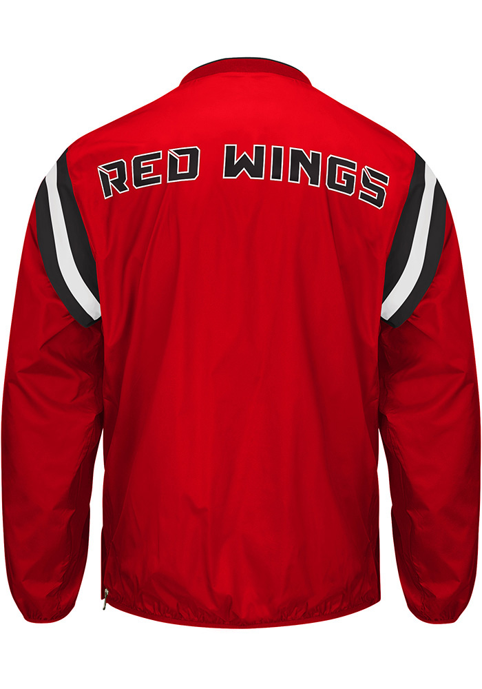 Detroit Red Wings Mens Red Bullpen Pullover Jackets - Image 2