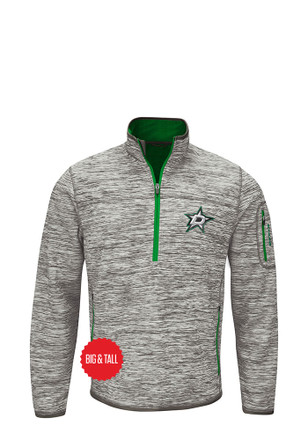Dallas Stars Mens Grey Fast Pace Zip Sweatshirt