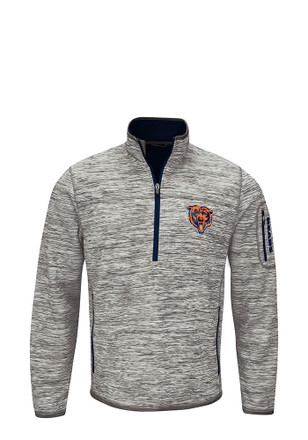 Chicago Bears Mens Grey Fast Pace 1/4 Zip Performance Pullover