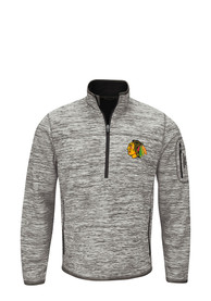 Chicago Blackhawks Fast Pace 1/4 Zip Pullover - Grey