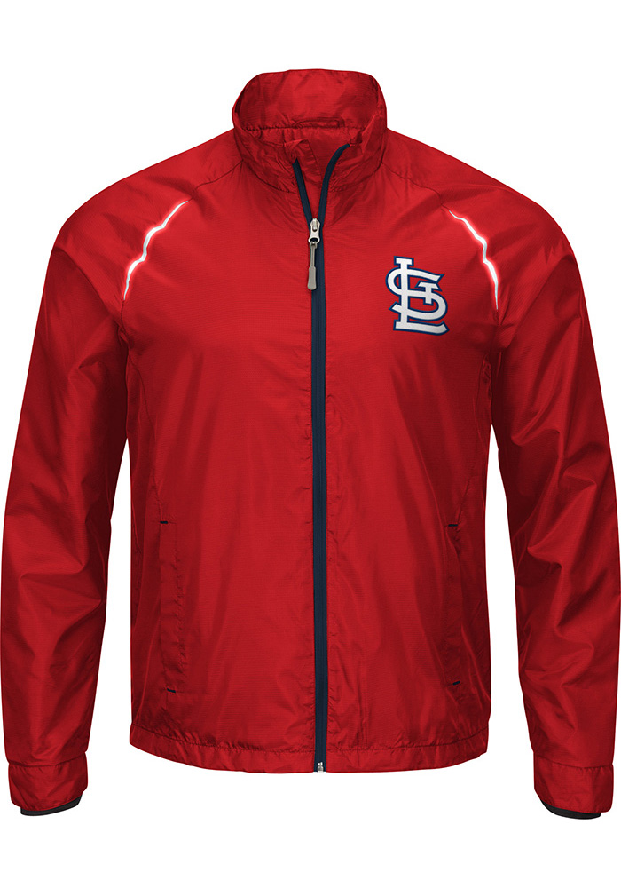 St Louis Cardinals Mens Red Big and Tall Light Weight Jacket - Image 1